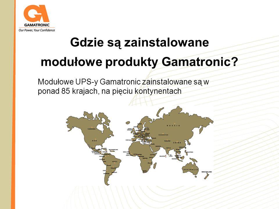 Gdzie są zainstalowane modułowe produkty Gamatronic