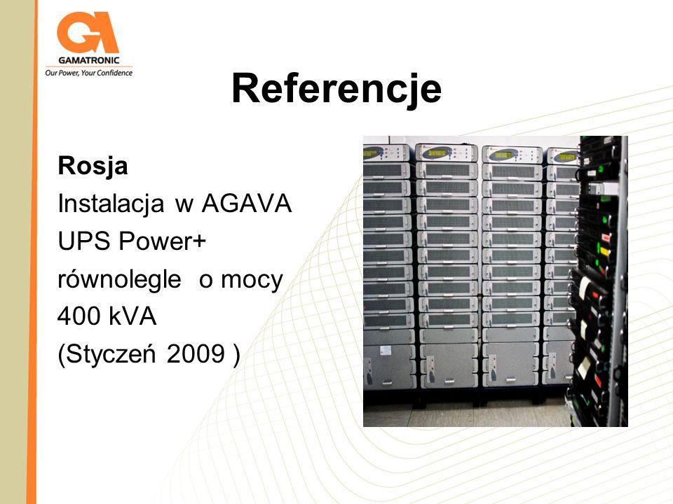Referencje Rosja Instalacja w AGAVA UPS Power+ równolegle o mocy