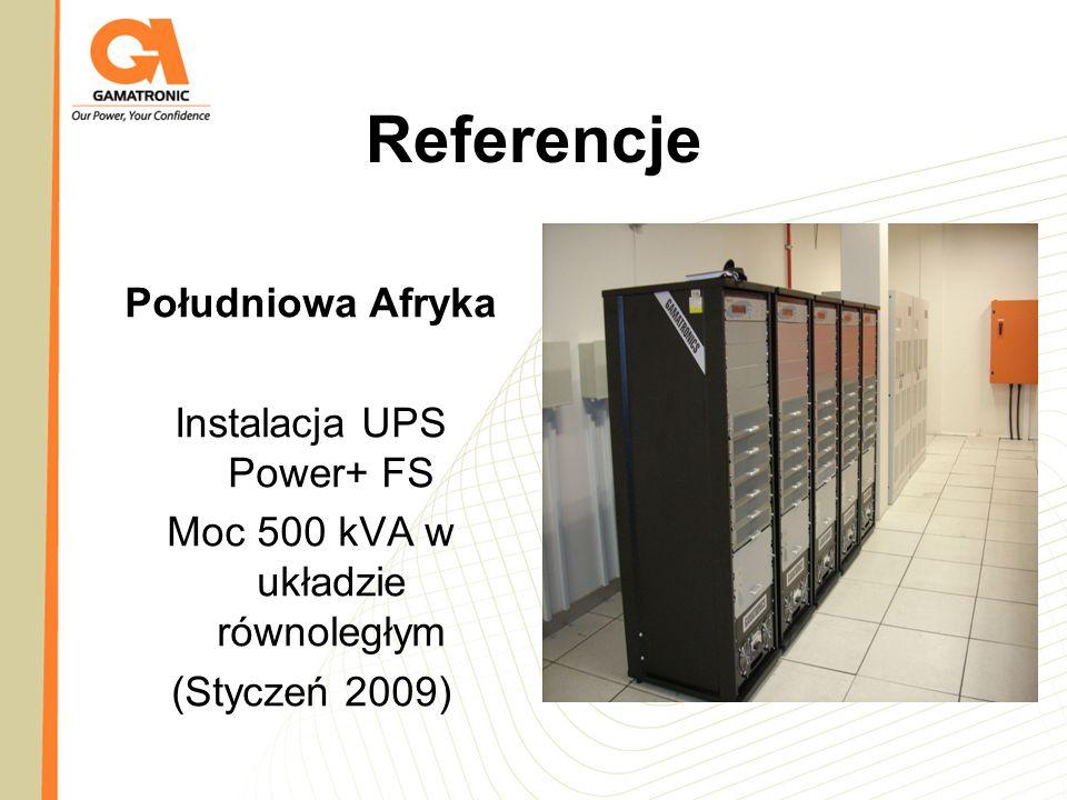 Referencje Południowa Afryka Instalacja UPS Power+ FS