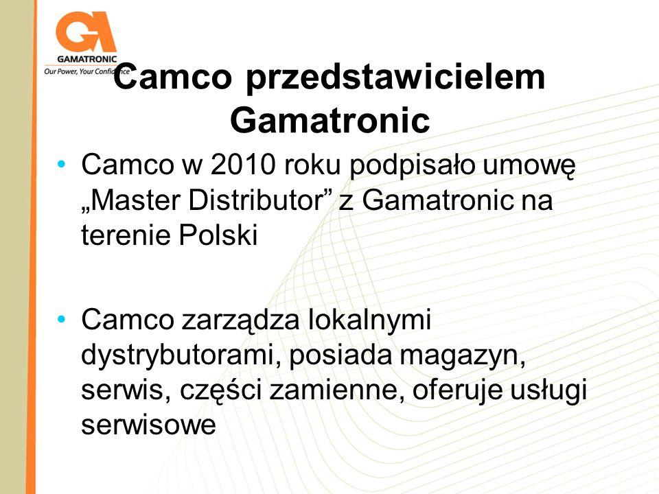 Camco przedstawicielem Gamatronic