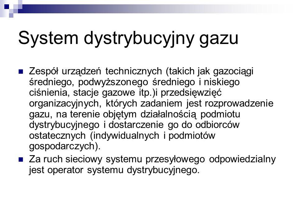System dystrybucyjny gazu