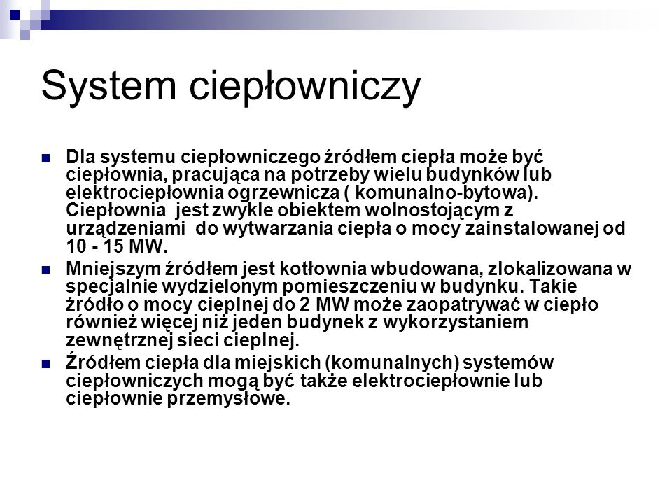 System ciepłowniczy