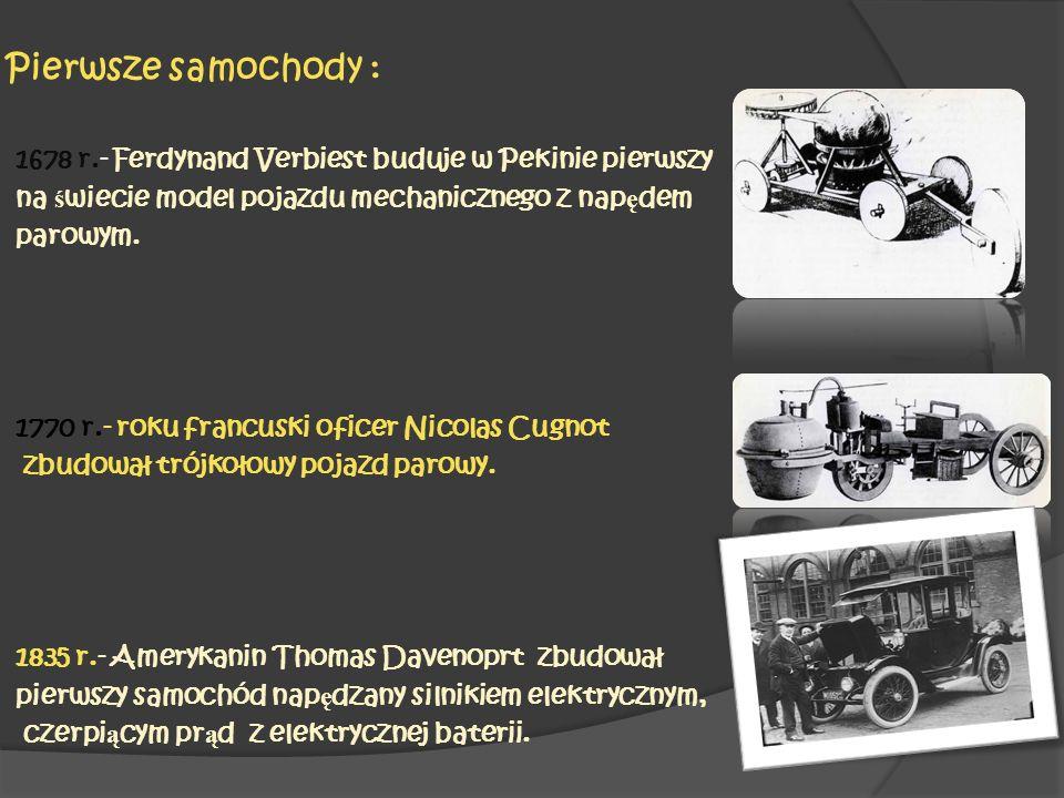 Pierwsze samochody :