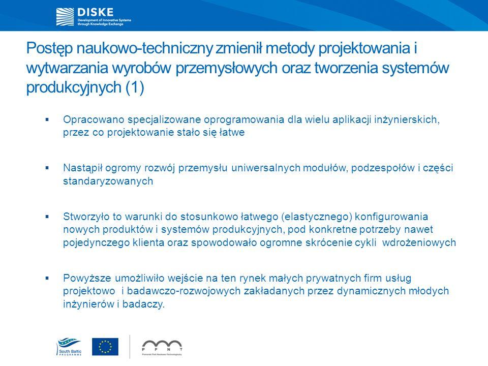 Postęp naukowo-techniczny zmienił metody projektowania i wytwarzania wyrobów przemysłowych oraz tworzenia systemów produkcyjnych (1)