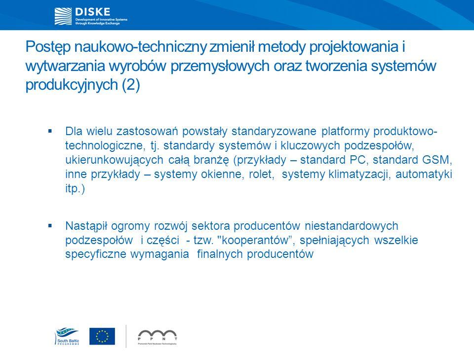 Postęp naukowo-techniczny zmienił metody projektowania i wytwarzania wyrobów przemysłowych oraz tworzenia systemów produkcyjnych (2)