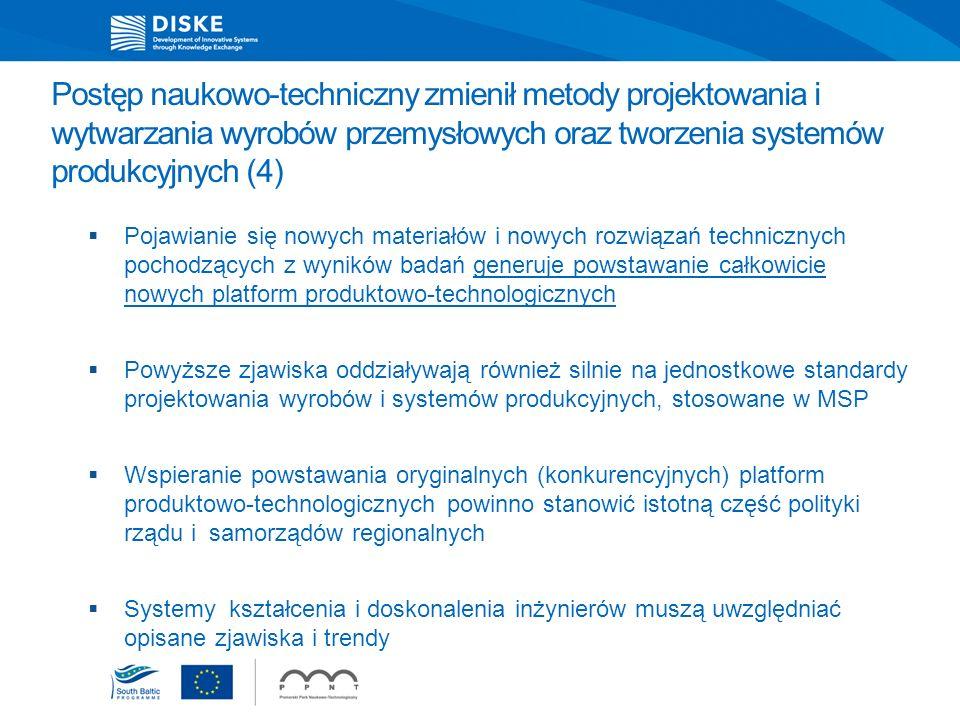 Postęp naukowo-techniczny zmienił metody projektowania i wytwarzania wyrobów przemysłowych oraz tworzenia systemów produkcyjnych (4)
