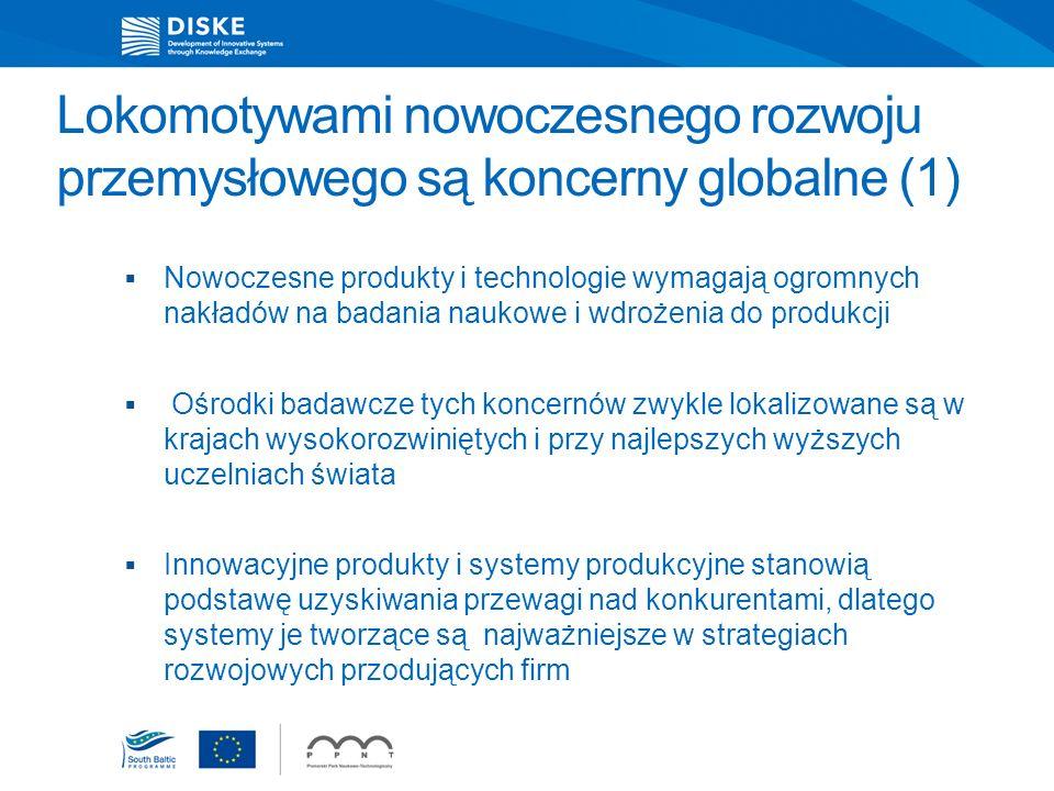 Lokomotywami nowoczesnego rozwoju przemysłowego są koncerny globalne (1)