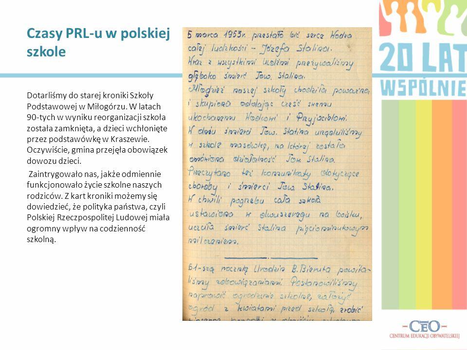Czasy PRL-u w polskiej szkole
