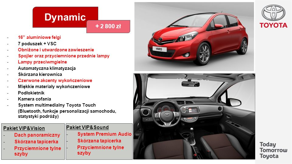 Dynamic + 2 800 zł Pakiet VIP&Sound Pakiet VIP&Vision