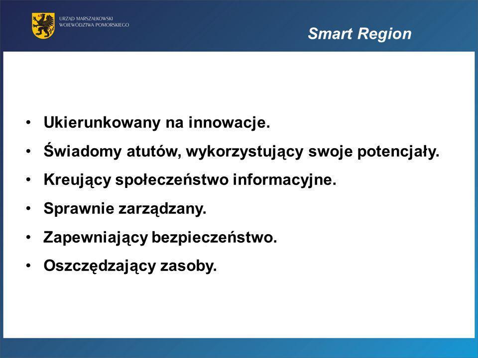 Smart RegionUkierunkowany na innowacje. Świadomy atutów, wykorzystujący swoje potencjały. Kreujący społeczeństwo informacyjne.