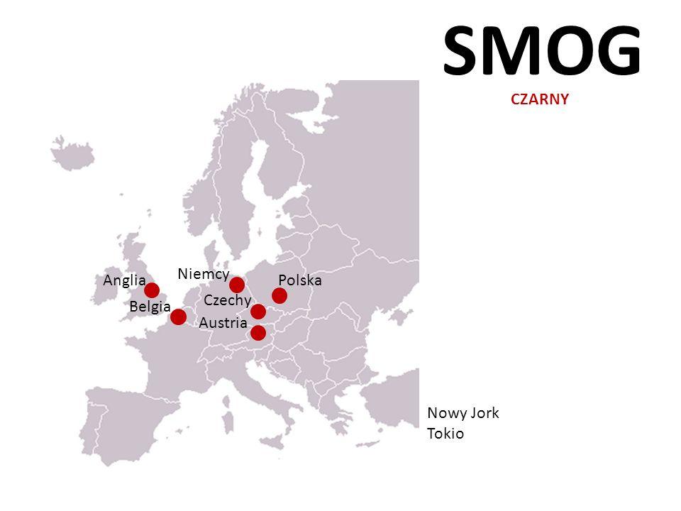 SMOG CZARNY Niemcy Anglia Polska Czechy Belgia Austria Nowy Jork Tokio