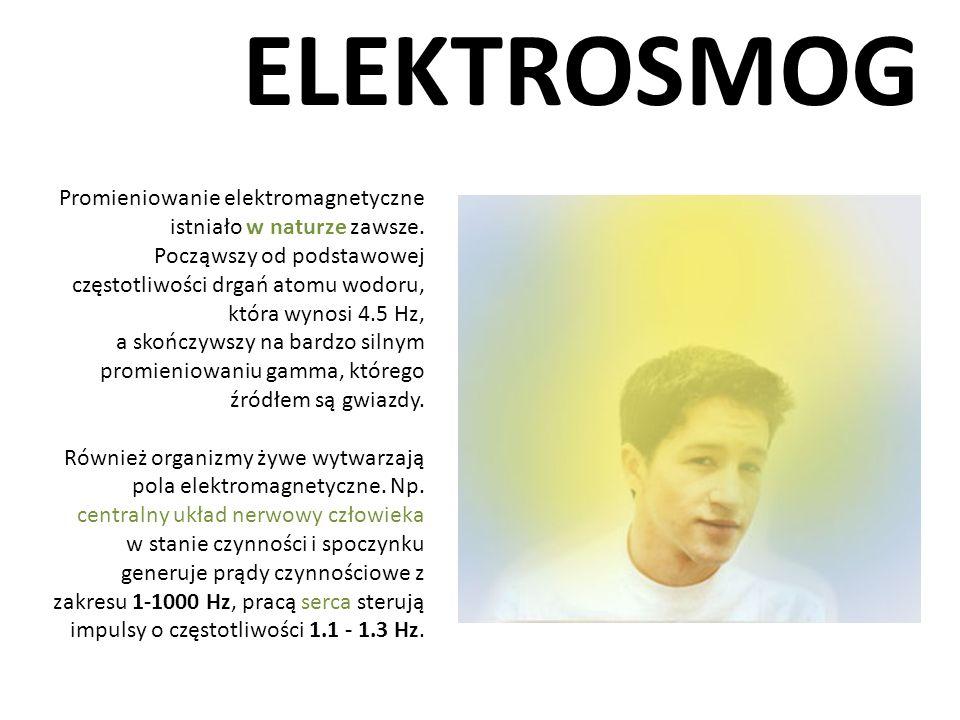 ELEKTROSMOG Promieniowanie elektromagnetyczne istniało w naturze zawsze.