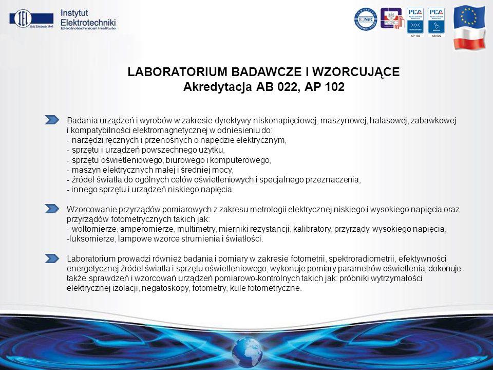 Laboratorium badawcze i wzorcujące