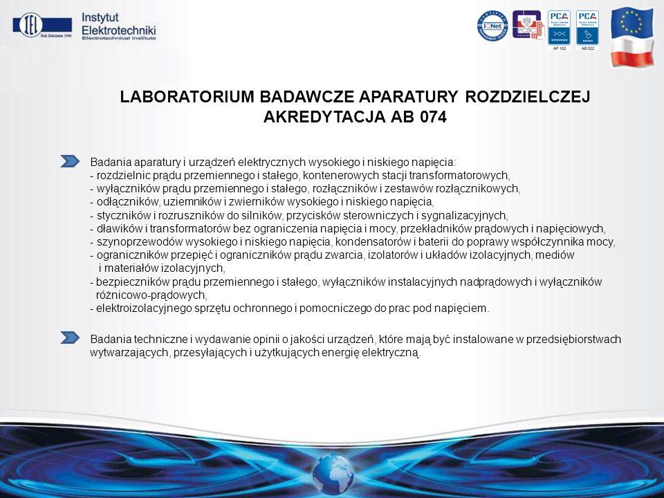 LABORAtorium badawcze aparatury roZdzielczej Akredytacja AB 074