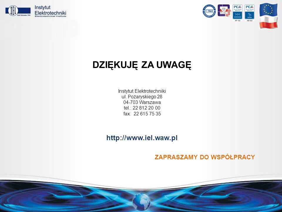 DZIĘKUJĘ ZA UWAGĘ http://www.iel.waw.pl
