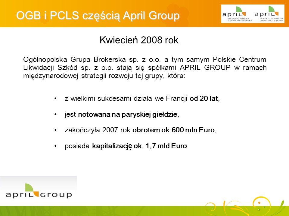 OGB i PCLS częścią April Group