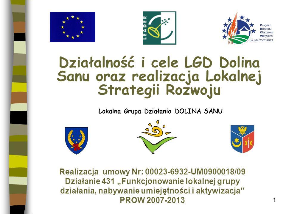 Działalność i cele LGD Dolina Sanu oraz realizacja Lokalnej Strategii Rozwoju