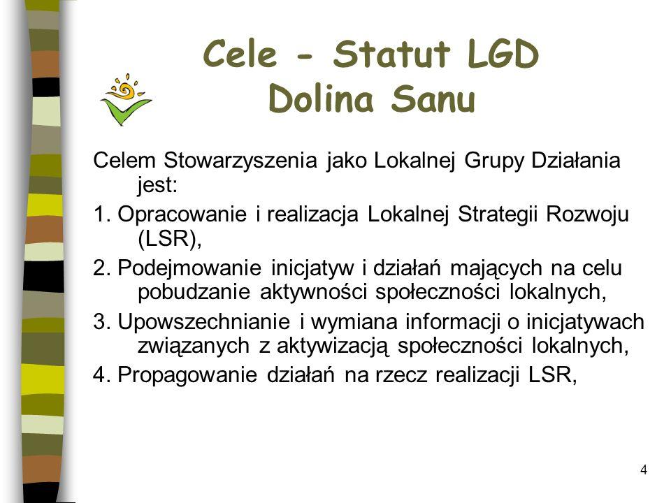 Cele - Statut LGD Dolina Sanu