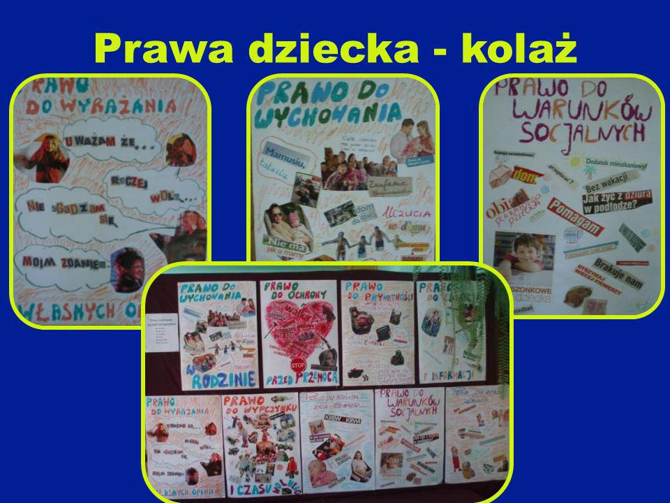 Prawa dziecka - kolaż