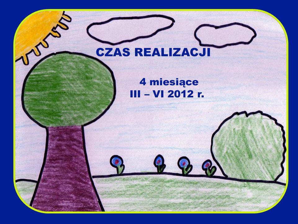 CZAS REALIZACJI 4 miesiące III – VI 2012 r.
