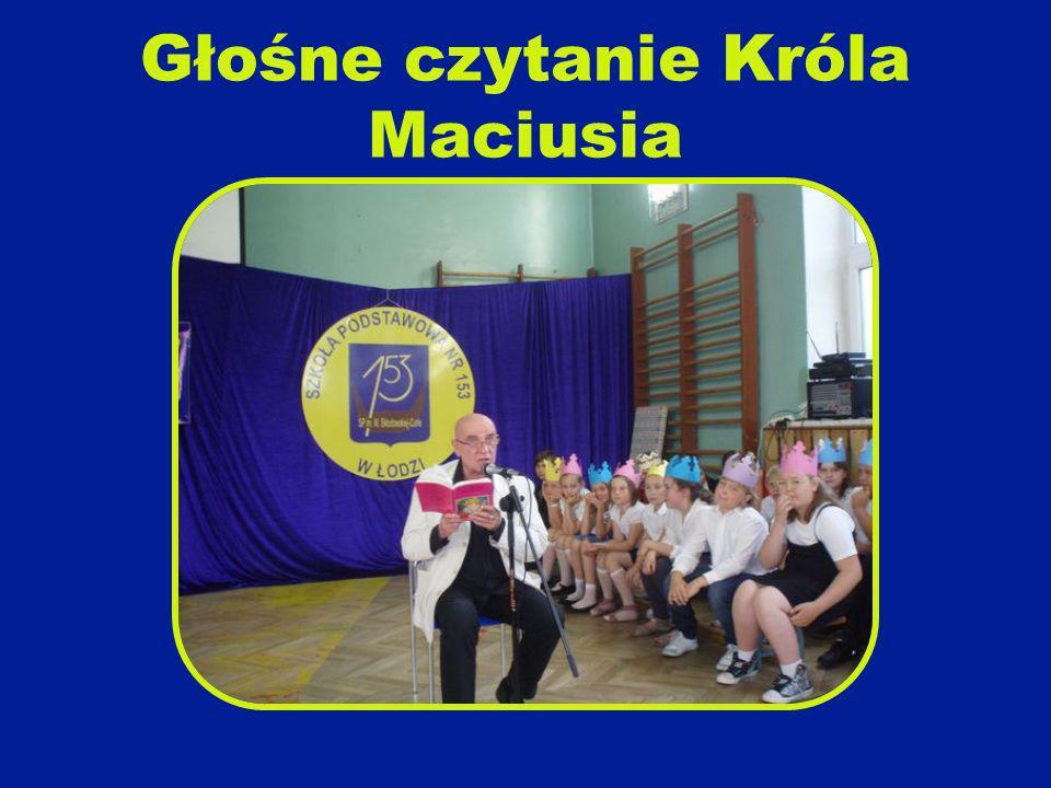 Głośne czytanie Króla Maciusia