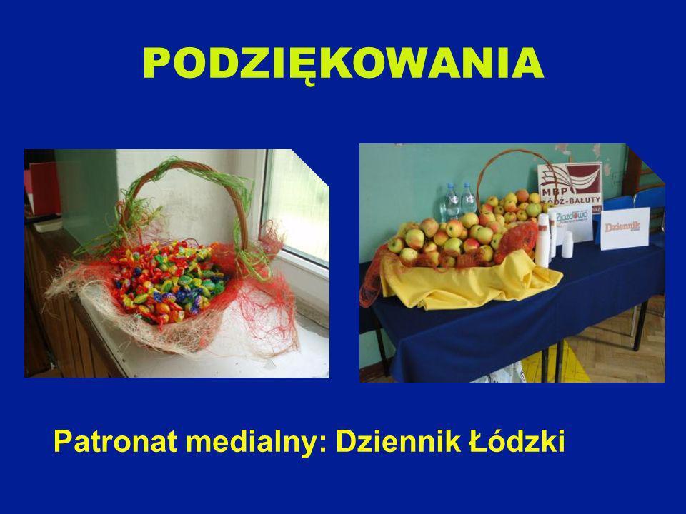 PODZIĘKOWANIA Patronat medialny: Dziennik Łódzki