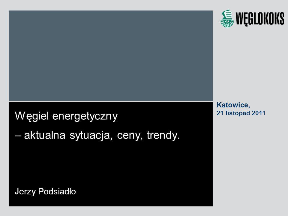 Węgiel energetyczny – aktualna sytuacja, ceny, trendy. Jerzy Podsiadło