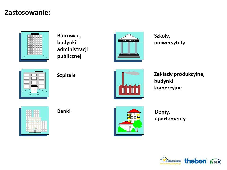 Zastosowanie: Biurowce, Szkoły, budynki uniwersytety administracji