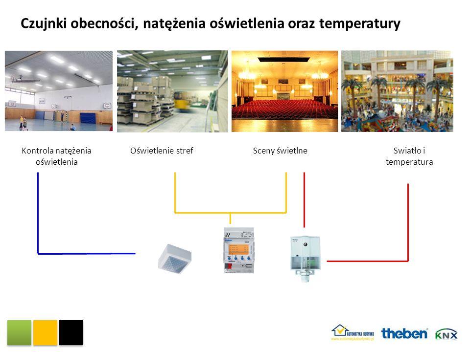 Czujnki obecności, natężenia oświetlenia oraz temperatury