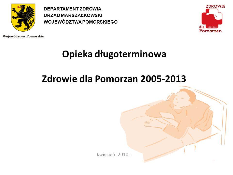Opieka długoterminowa Zdrowie dla Pomorzan 2005-2013