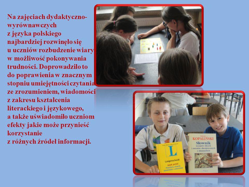 Na zajęciach dydaktyczno-wyrównawczych