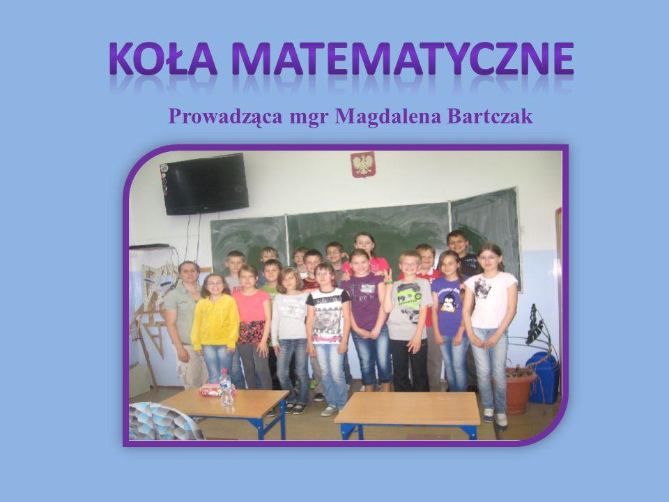 Prowadząca mgr Magdalena Bartczak