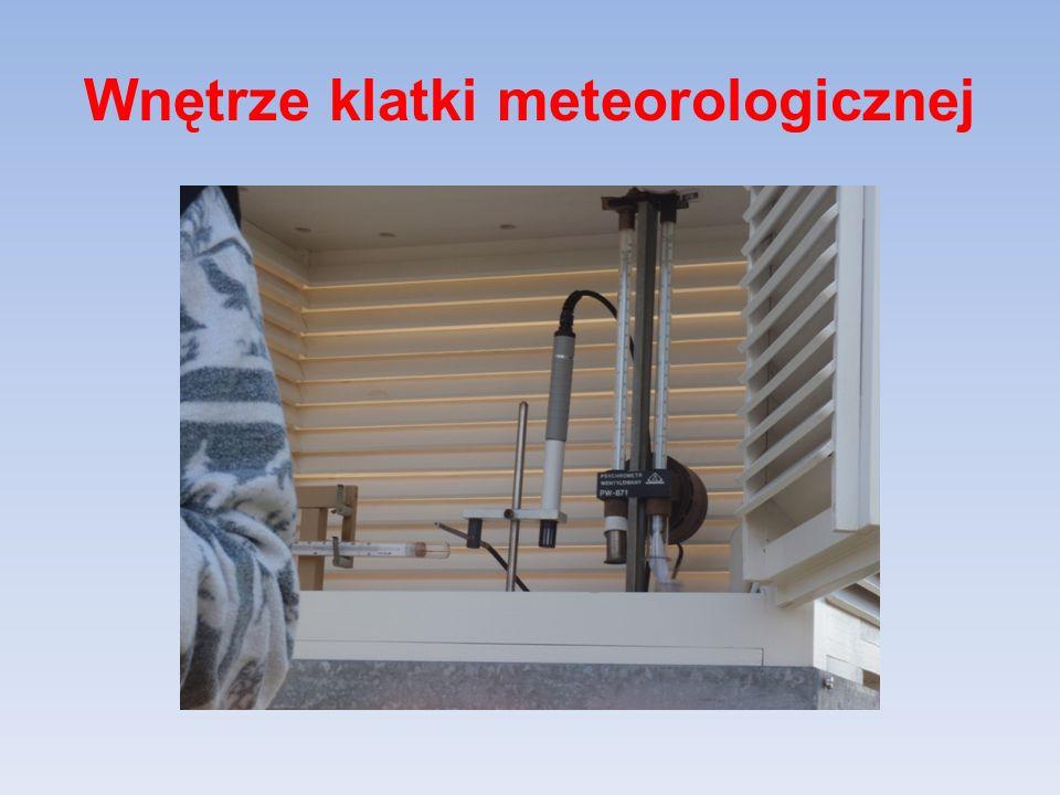 Wnętrze klatki meteorologicznej