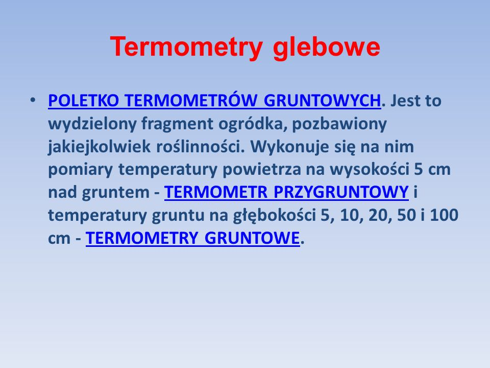Termometry glebowe