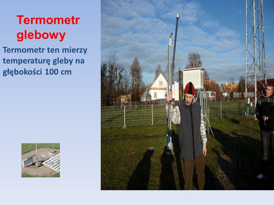 Termometr glebowy Termometr ten mierzy temperaturę gleby na głębokości 100 cm