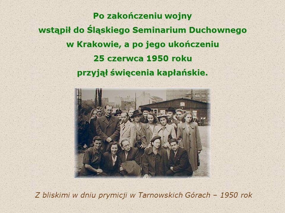 wstąpił do Śląskiego Seminarium Duchownego