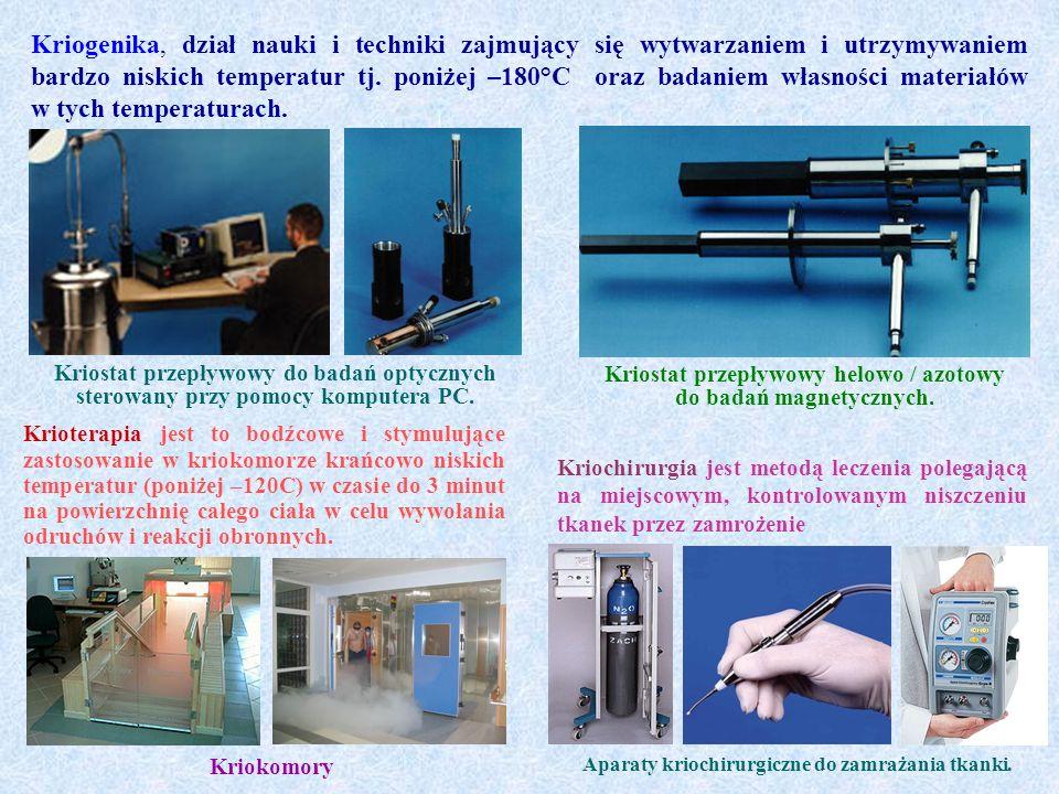 Kriostat przepływowy helowo / azotowy