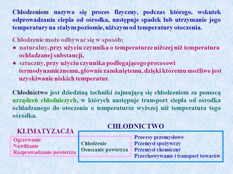 Chłodzeniem nazywa się proces fizyczny, podczas którego, wskutek odprowadzania ciepła od ośrodka, następuje spadek lub utrzymanie jego temperatury na stałym poziomie, niższym od temperatury otoczenia.