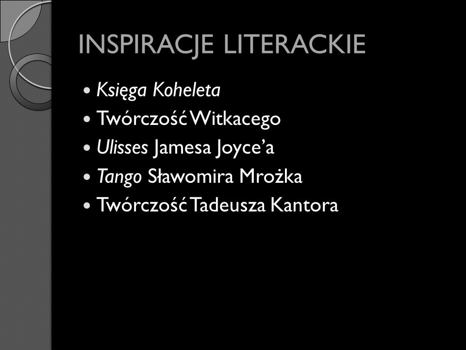 INSPIRACJE LITERACKIE