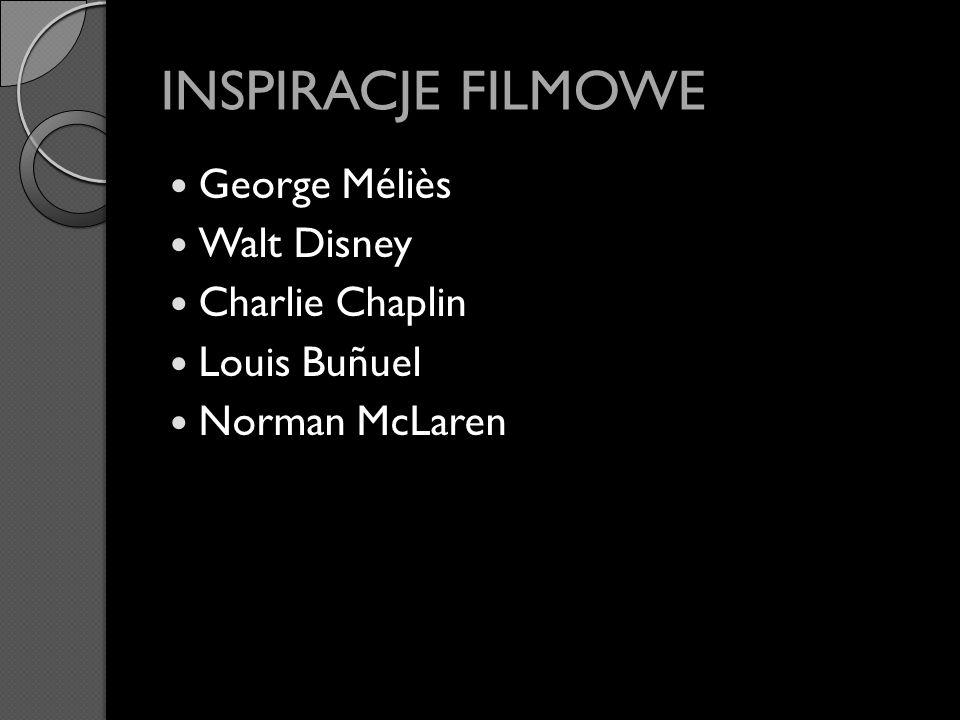INSPIRACJE FILMOWE George Méliès Walt Disney Charlie Chaplin