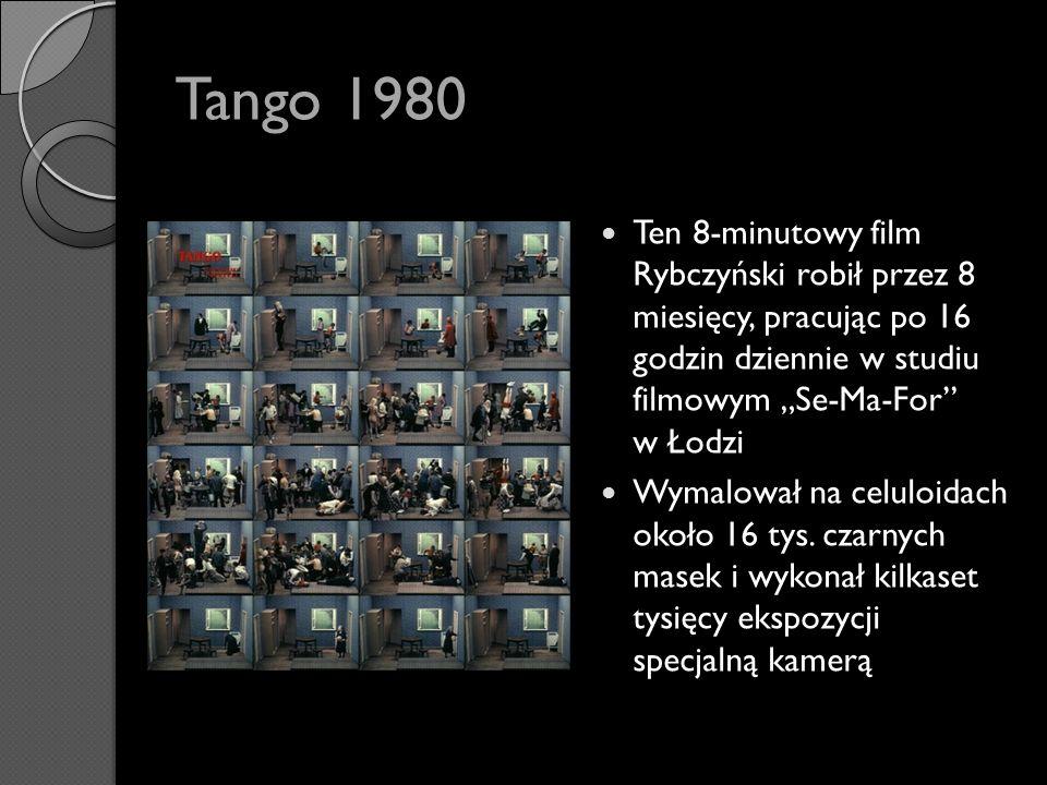 """Tango 1980 Ten 8-minutowy film Rybczyński robił przez 8 miesięcy, pracując po 16 godzin dziennie w studiu filmowym """"Se-Ma-For w Łodzi."""