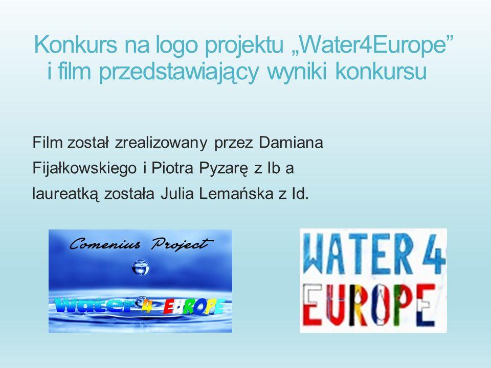 """Konkurs na logo projektu """"Water4Europe i film przedstawiający wyniki konkursu"""