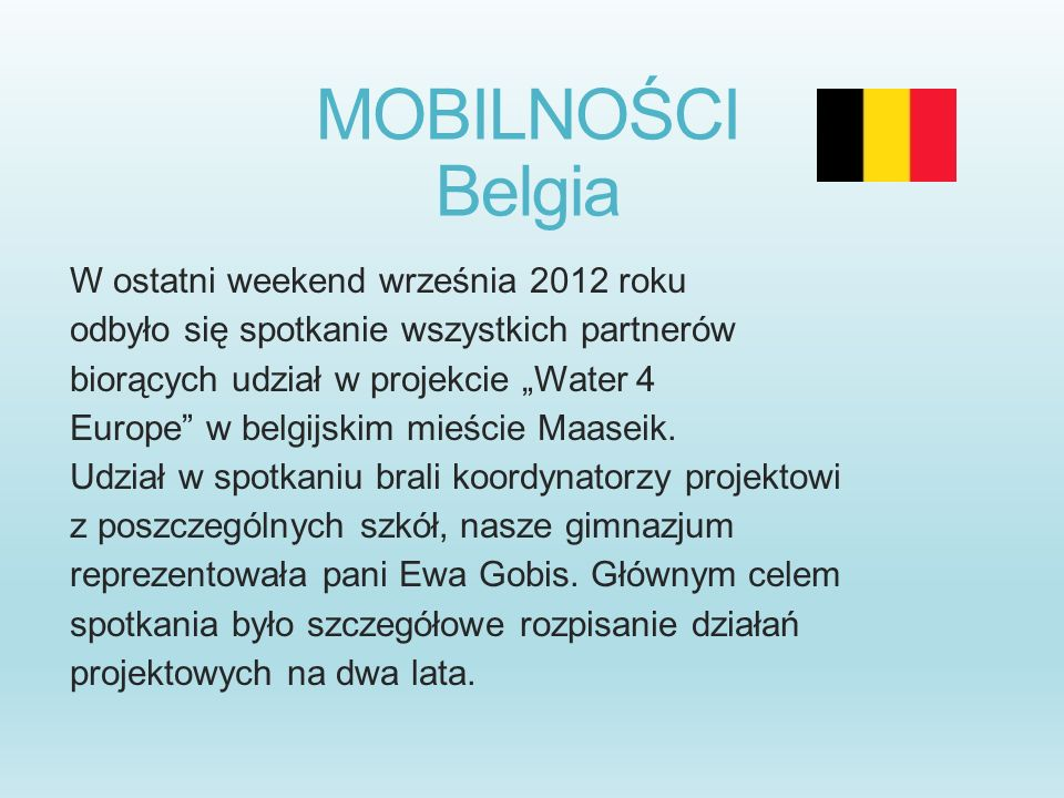 MOBILNOŚCI Belgia