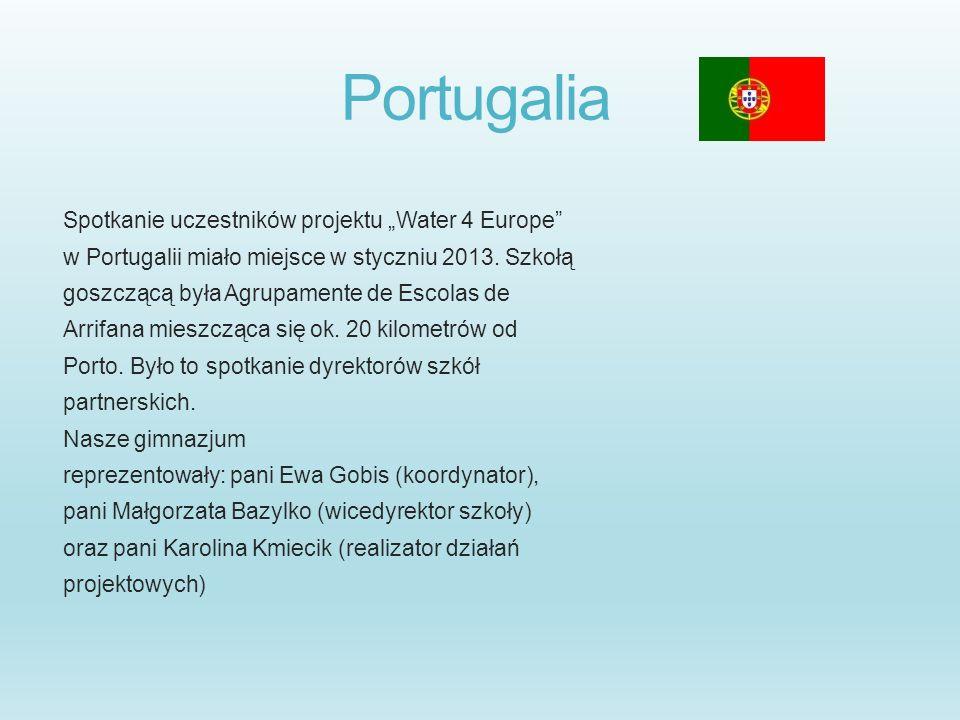 """Portugalia Spotkanie uczestników projektu """"Water 4 Europe"""
