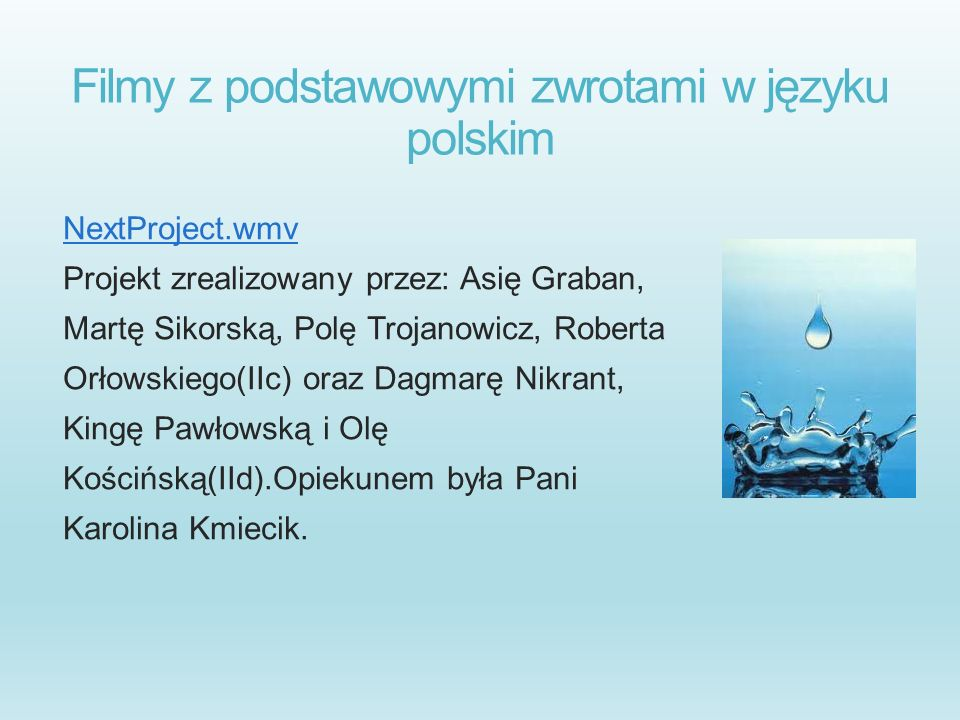 Filmy z podstawowymi zwrotami w języku polskim