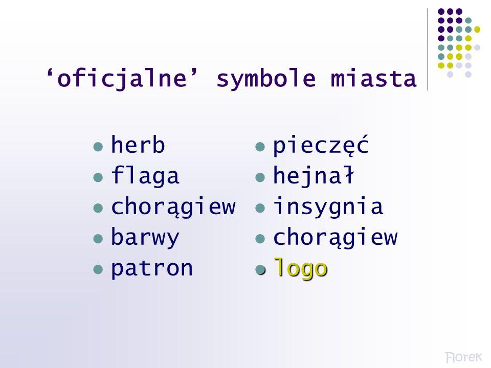 'oficjalne' symbole miasta
