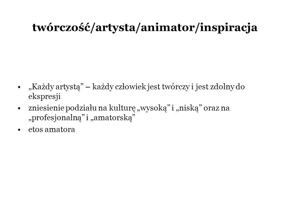 twórczość/artysta/animator/inspiracja
