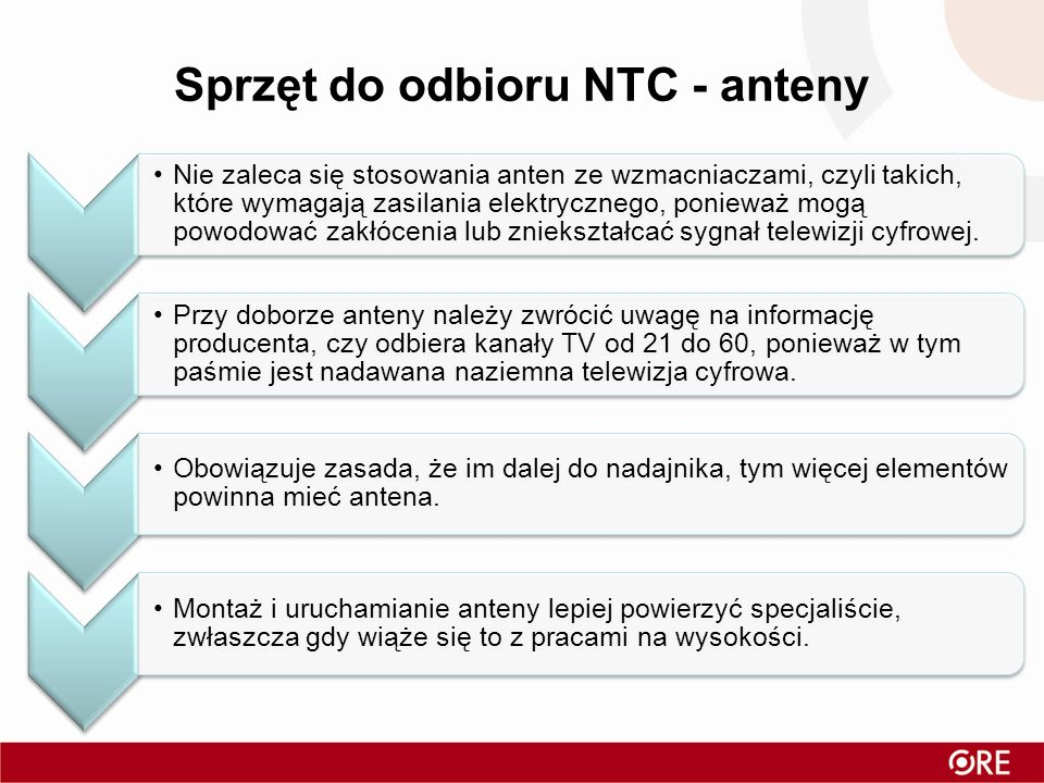 Sprzęt do odbioru NTC - anteny