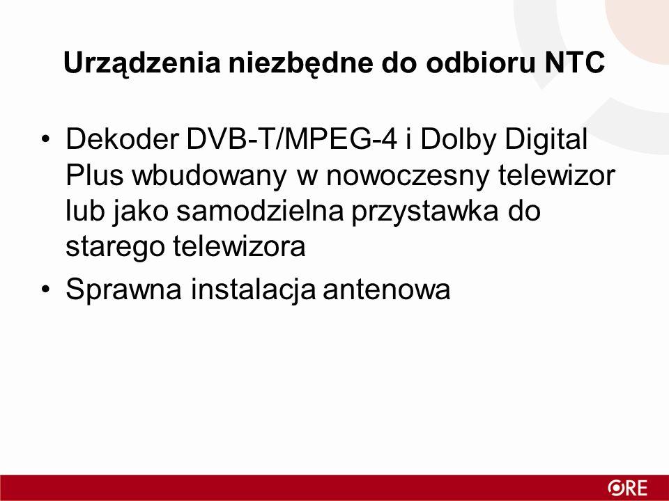Urządzenia niezbędne do odbioru NTC