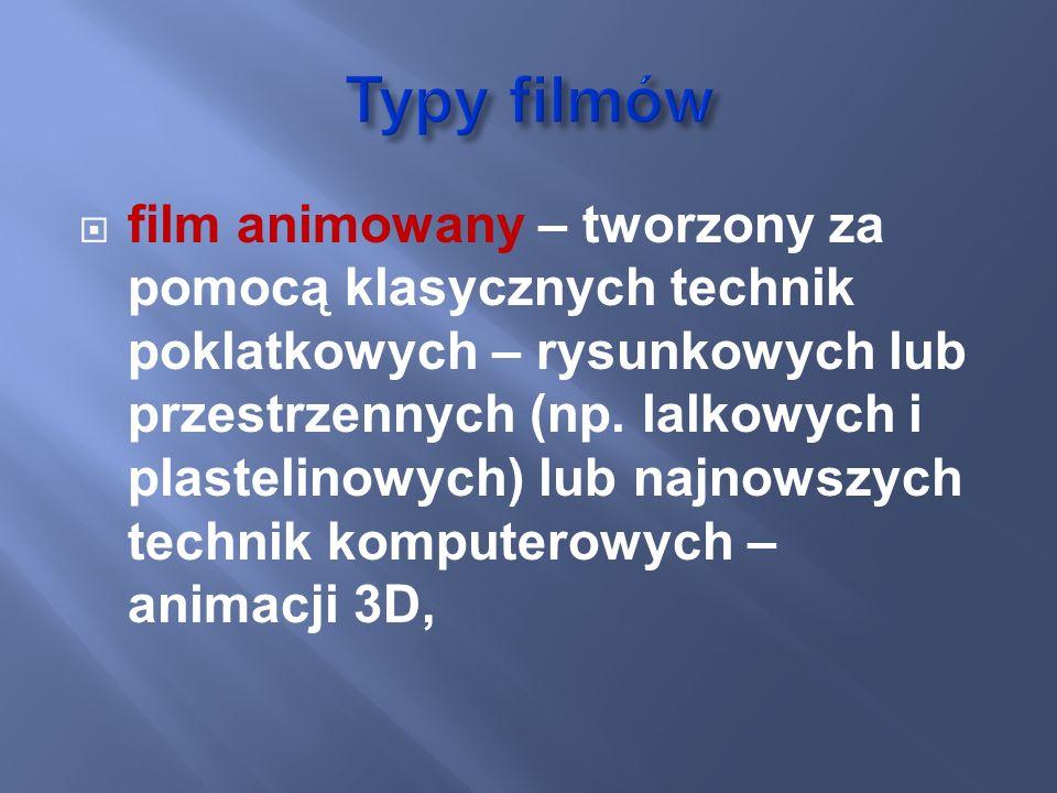 Typy filmów
